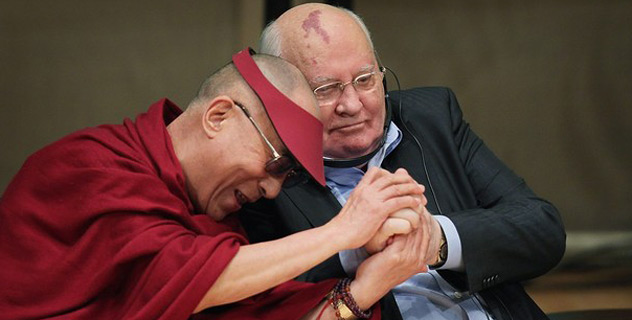 His Holiness at the 12th World Summit of Nobel Peace Laureates
